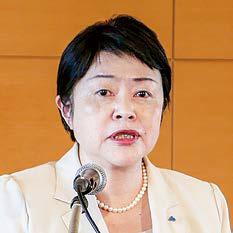 東法連女連協会長 中島三枝子の写真